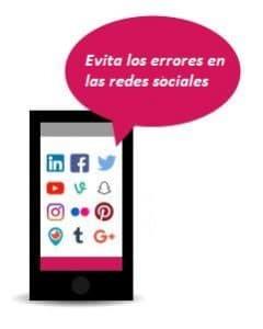 Errores comunes en estrategias de redes sociales